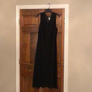 Maxi length black dress